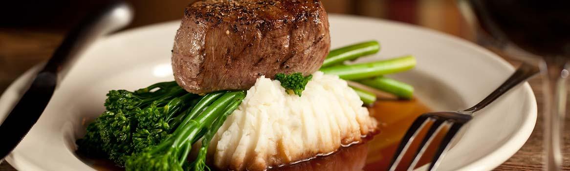 Steak dishes at our Hocking Hills restaurant