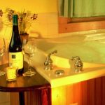 """wine and whirlpool at Inn & Spa at Cedar Falls cottage"""
