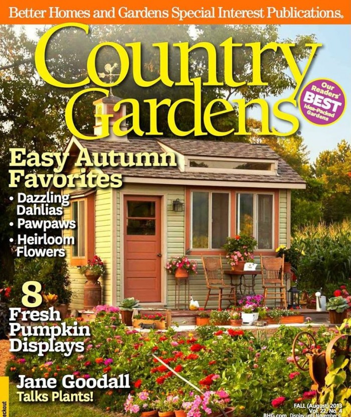 Inn featured in current issue of national Gardening Magazine Inn