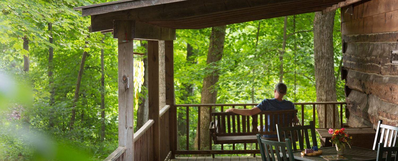 Redbud Cabin porch
