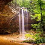 Ash Cave with waterfalls in Hocking Hills
