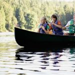 Father and sons canoeing with the Hocking Hills Canoe Livery