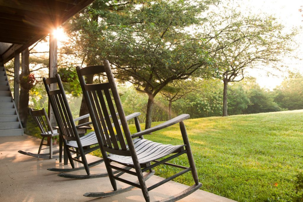 cedar falls rocking chairs on porch