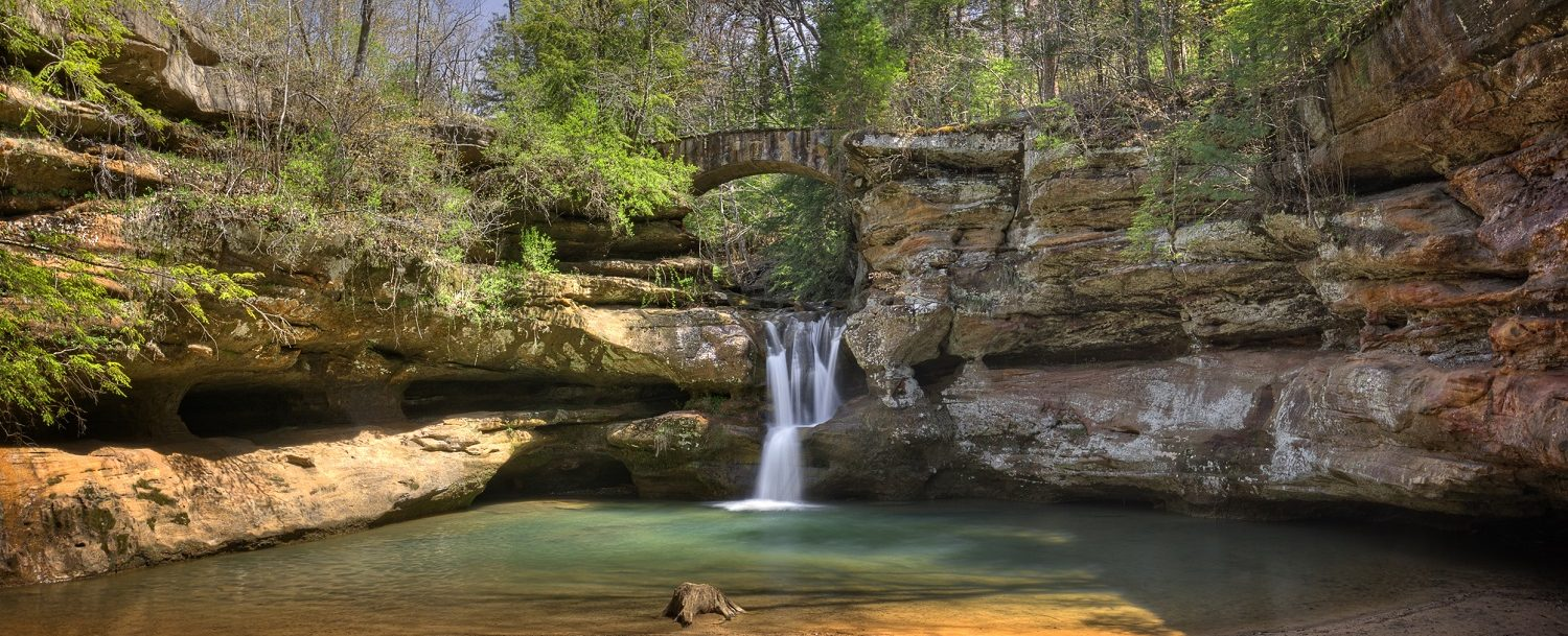 best time to visit Hocking HIlls Waterfall