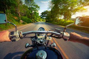 biker enjoying motorcycle routes in ohio