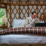 People in Yurt bed