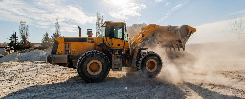 construction machine in dirt