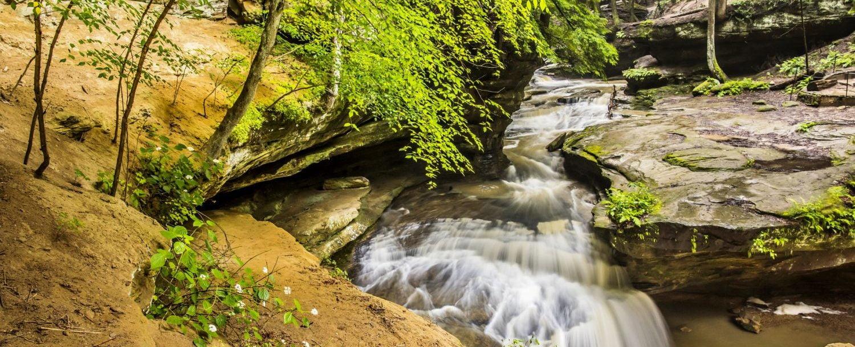 waterfall near Hocking Hills