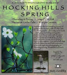 Hocking Hills photography workshop flyer