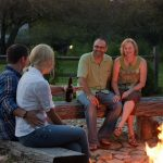 Couples at firepit
