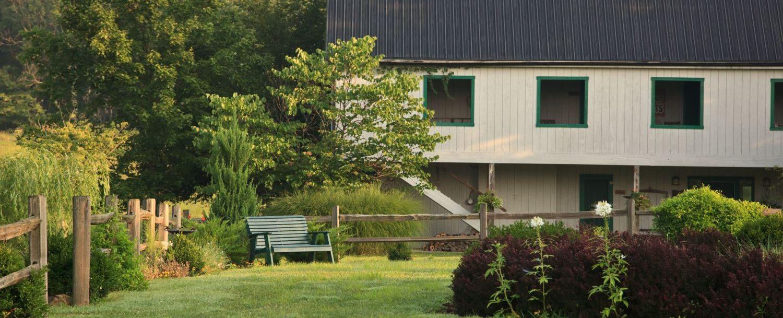 exterior of Cedar Falls Lodge