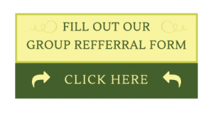 "Green and yellow button that reads ""Fill out our group referral form"""