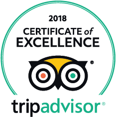 TripAdvsior 2018 Certificate of Excellence