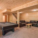 gameroom in basement of lodge