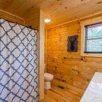 full bathroom in the lodge