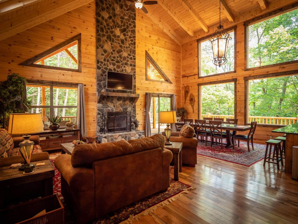 Interior view of Thelma's retreat.