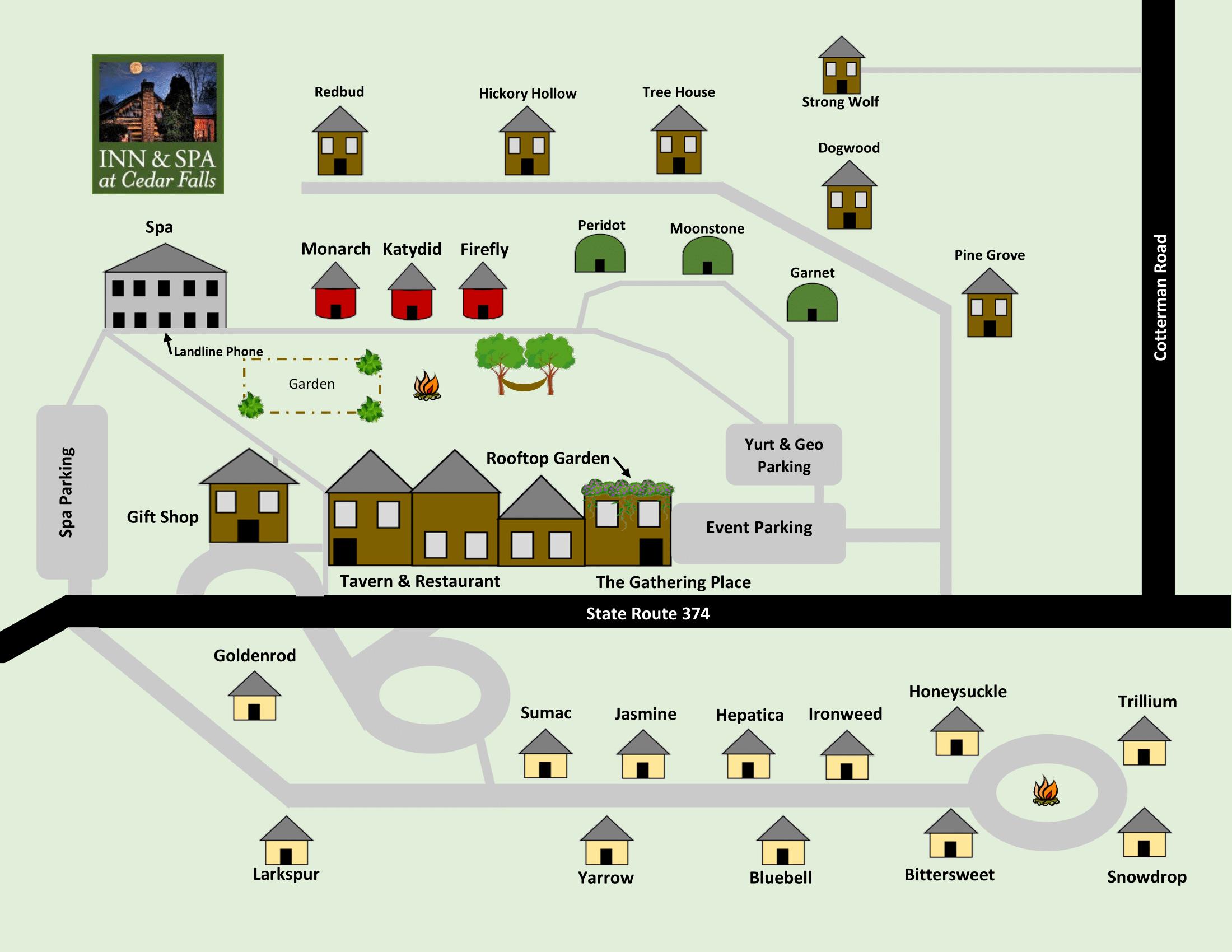 Cedar falls animated property map
